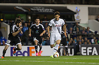 Son Heung-Min of Tottenham Hotspur heads towards goal during the UEFA Europa League match between Tottenham Hotspur and Qarabag FK at White Hart Lane, London, England on 17 September 2015. Photo by Andy Rowland.
