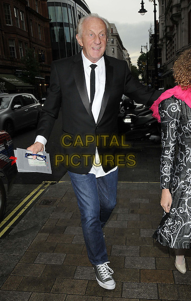 Paul Costelloe.attended the Natwest UK Fashion & Textile Awards 2013, One Mayfair, North Audley St., London, England, UK, 23rd May 2013..full length black jacket blazer tie white shirt jeans trainers .CAP/CAN.©Can Nguyen/Capital Pictures.