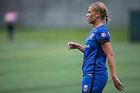 Seattle, Washington - Saturday May 14, 2016: Seattle Reign FC forward Merritt Mathias (9) during the first half of a match at Memorial Stadium on Saturday May 14, 2016 in Seattle, Washington. The match ended in a 1-1 draw.