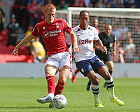 Preston North End's Daniel Johnson chases down Nottingham Forest's Ben Watson<br /> <br /> Photographer David Shipman/CameraSport<br /> <br /> The EFL Sky Bet Championship - Nottingham Forest v Preston North End - Saturday 31st August 2019 - The City Ground - Nottingham<br /> <br /> World Copyright © 2019 CameraSport. All rights reserved. 43 Linden Ave. Countesthorpe. Leicester. England. LE8 5PG - Tel: +44 (0) 116 277 4147 - admin@camerasport.com - www.camerasport.com