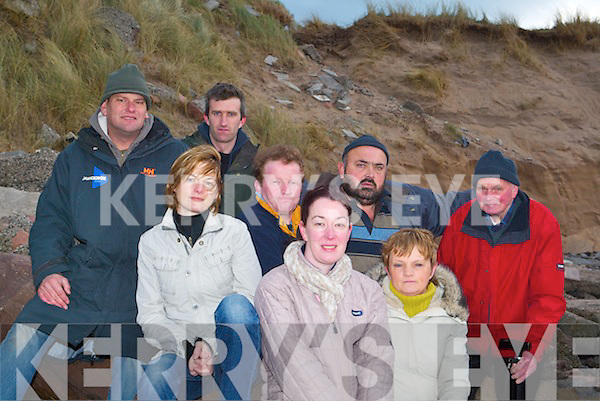 STOP THE EROSION: Locals from Kilshannig, Maharees say something needs to be done to protect the eroding sand dunes in the area. Front l-r were: Denise Boyle, Catherine Goodwin, Eileen McCarthy. Back l-r were: Jamie Knox, Aidan OConnor, Pat OShea, Peter Hennessy and John Kenny.