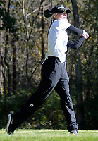 Edgewood's Caitlyn Hegenbarth tees off on No. 10 during the Wisconsin WIAA state girls high school golf tournament on Monday, 10/14/19 at University Ridge Golf Course | Wisconsin State Journal article front page A1 10/15/19 and online at https://madison.com/wsj/sports/high-school/golf/wiaa-state-girls-golf-madison-edgewood-middleton-on-top-after/article_b145b80f-d9a4-5237-becb-4b3d6f222261.html