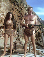 Planet of the Apes (1968) <br /> Linda Harrison &amp; Charlton Heston<br /> *Filmstill - Editorial Use Only*<br /> CAP/KFS<br /> Image supplied by Capital Pictures
