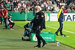 10.08.2019, wohninvest WESERSTADION, Bremen, GER, DFB-Pokal, 1. Runde, SV Atlas Delmenhorst vs SV Werder Bremen<br /> <br /> im Bild<br /> Friedrich Munder (Zeugwart Werder Bremen) beim Jubel 1:6, <br /> <br /> während DFB-Pokal Spiel zwischen SV Atlas Delmenhorst und SV Werder Bremen im wohninvest WESERSTADION, <br /> <br /> Foto © nordphoto / Ewert