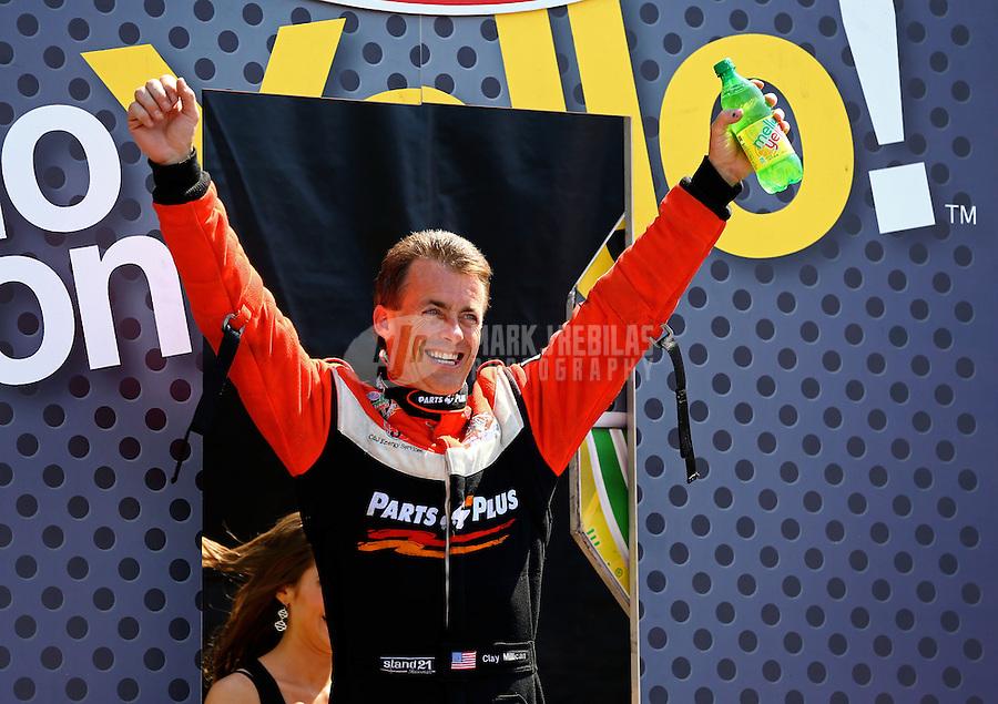 Jun. 2, 2013; Englishtown, NJ, USA: NHRA top fuel dragster driver Clay Millican during the Summer Nationals at Raceway Park. Mandatory Credit: Mark J. Rebilas-