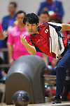 Shogo Wada (JPN), <br /> AUGUST 23, 2018 - Bowling : <br /> Men's Trios Block 2 <br /> at Jakabaring Sport Center Bowling Center <br /> during the 2018 Jakarta Palembang Asian Games <br /> in Palembang, Indonesia. <br /> (Photo by Yohei Osada/AFLO SPORT)