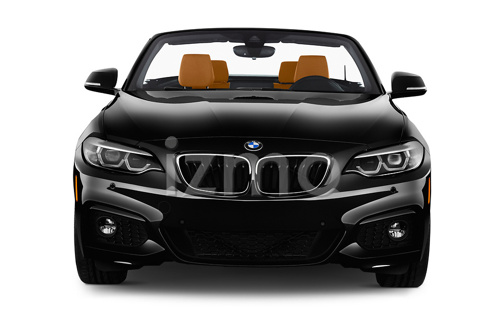 Car photography straight front view of a 2018 BMW 2 Series M-Sport 2 Door Convertible