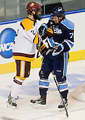 Brady Lamb (Duluth - 2), Nick Pryor (Maine - 71) - The University of Minnesota Duluth Bulldogs defeated the University of Maine Black Bears 5-2 in their NCAA Northeast semifinal on Saturday, March 24, 2012, at the DCU Center in Worcester, Massachusetts.