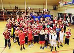 2016-02-03 / Basketbal / Seizoen 2015-2016 / Twee Harlem Globetrotters verrasten de Antwerp Giants jeugd.<br /> Foto: Mpics.be
