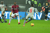 Pedro Obiang of West Ham United during West Ham United vs Liverpool, Premier League Football at The London Stadium on 4th February 2019