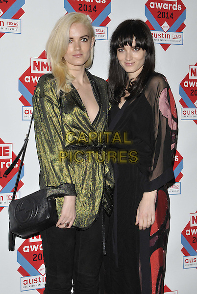 LONDON, ENGLAND - FEBRUARY 26: Say Lou Lou ( Miranda Kilbey &amp; Elektra Kilbey ) attend the NME Awards 2014, O2 Academy Brixton, Stockwell Rd., on Wednesday February 26, 2014 in London, England, UK.<br /> CAP/CAN<br /> &copy;Can Nguyen/Capital Pictures