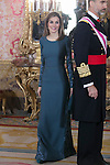 Spanish Royals King Felipe VI of Spain and Queen Letizia of Spain attend the Military Easter at Royal Palace in Madrid, Spain. Jenuary 06, 0215. (Pool/ALTERPHOTOS/Victor Blanco)