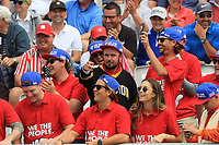 USA supporters at the 1st during the Second Round - Foursomes of the Presidents Cup 2019, Royal Melbourne Golf Club, Melbourne, Victoria, Australia. 13/12/2019.<br /> Picture Thos Caffrey / Golffile.ie<br /> <br /> All photo usage must carry mandatory copyright credit (© Golffile | Thos Caffrey)