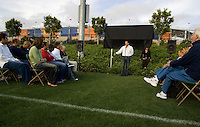 "CARSON, CA--Dedication of Glenn ""Mooch"" Myernick field at the Home Depot Center, followed by the Drew Carey vs. US Soccer fundraiser for the Mooch Memorial Fund. TUESDAY, JUNE 5, 2007. PHOTO BY DON FERIA/INTERNATIONAL SPORTS IMAGES."