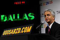 U.S. Soccer President and USA Bid Committee Chairman Sunil Gulati announces Dallas as one of the 18 cities to be submitted to FIFA as part of the bid to host the 2018 or 2022 FIFA World Cup at the ESPN Zone in Times Square, NYC, NY, on January 12, 2010.