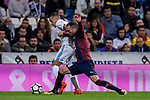 Anaitz Arbilla Zabala (r) of SD Eibar tackles Lucas Vazquez of Real Madrid during the La Liga 2017-18 match between Real Madrid and SD Eibar at Estadio Santiago Bernabeu on 22 October 2017 in Madrid, Spain. Photo by Diego Gonzalez / Power Sport Images