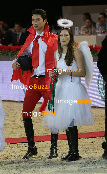 CPE/ Jessica Springsteen and Alex Hua Tian attend the Gucci Paris Masters 2012 at Paris Nord Villepinte on December 1, 2012 in Paris, France.
