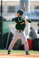 February 20, 2009:  Outfielder Mike Consolmagno (4) of the University of South Florida during the Big East-Big Ten Challenge at Jack Russell Stadium in Clearwater, FL.  Photo by:  Mike Janes/Four Seam Images
