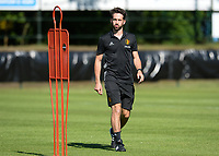 20170717 - RIJEN , NETHERLANDS :  Belgian media officer Brecht Schelstraete pictured during a training session of the Belgian national women's soccer team Red Flames on the pitch of Rijen , on Tuesday 18 July 2017 in Rijen . The Red Flames are at the Women's European Championship 2017 in the Netherlands. PHOTO SPORTPIX.BE | DAVID CATRY