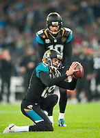 09.11.2014.  London, England.  NFL International Series. Jacksonville Jaguars versus Dallas Cowboys. Jacksonville Jaguars' Special Team's Bryan Anger (#19) catches for the converted point