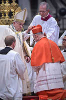 Cardinal Luis Francisco Ladaria Ferrer, Pope Francis leads a consistory for the creation of five new cardinals  at St Peter's basilica in Vatican on  June 28, 2018