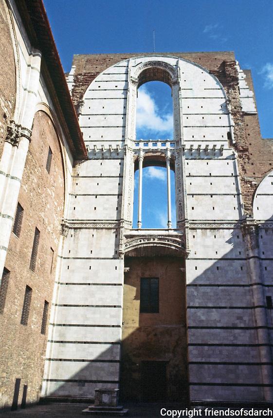 Siena:  abandoned Duomo.  Photo '83.