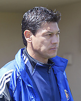 Chivas USA assistant coach Martin Vasques before a 2005 MLS game between the San Jose Earthquakes and Chivas USA on April 9, 2005 at Spartan Stadium in San Jose, California.  The game ended in a 3-3 tie.  Credit: JN Santos/ISI