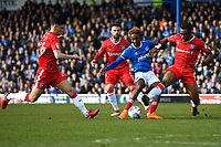 Jamal Lowe of Portsmouth shapes to shoot before scoring the first goal during Portsmouth vs Gillingham, Sky Bet EFL League 1 Football at Fratton Park on 10th March 2018