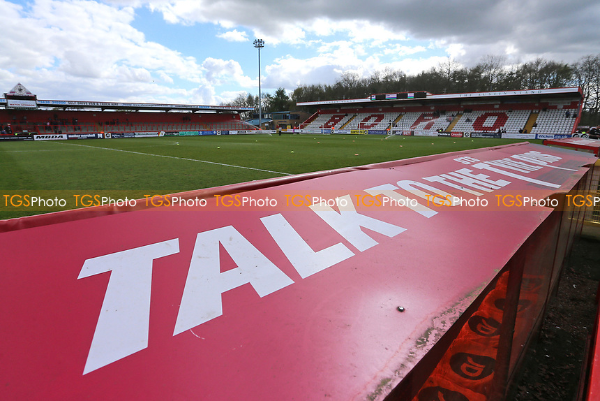 STS Tyre Pros signage during Stevenage vs Barnet, Sky Bet EFL League 2 Football at the Lamex Stadium on 1st April 2017