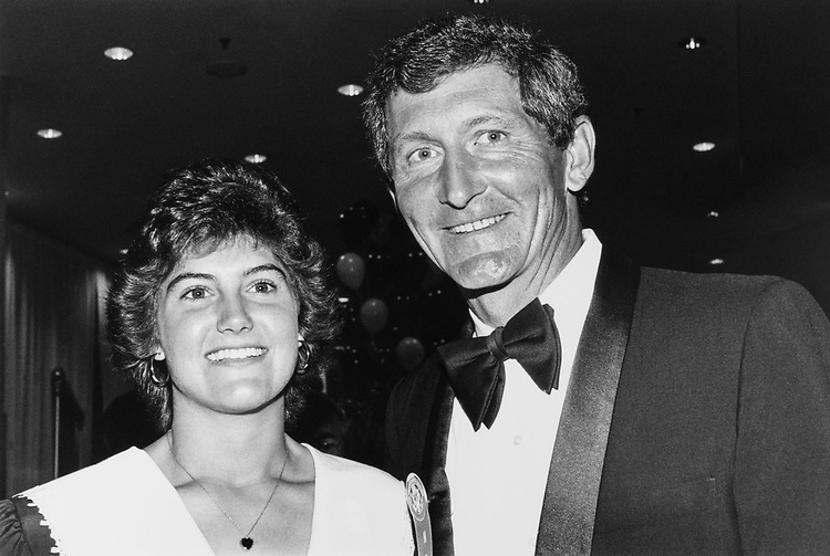 Rep. David O'Brien Martin, R-N.Y. and daughter Victoria (age 22) at RNCC dinner on June 21, 1990. (Photo by Laura Patterson/ CQ Roll Call)