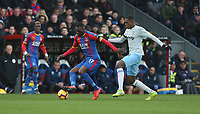 Crystal Palace's Christian Benteke and West Ham United's Issa Diop<br /> <br /> Photographer Rob Newell/CameraSport<br /> <br /> The Premier League - Saturday 9th February 2019  - Crystal Palace v West Ham United - Selhurst Park - London<br /> <br /> World Copyright © 2019 CameraSport. All rights reserved. 43 Linden Ave. Countesthorpe. Leicester. England. LE8 5PG - Tel: +44 (0) 116 277 4147 - admin@camerasport.com - www.camerasport.com