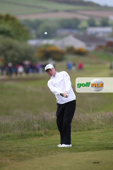 Matt Ford (ENG) chips to the 17th green during Round Three of the 2015 Dubai Duty Free Irish Open Hosted by The Rory Foundation at Royal County Down Golf Club, Newcastle County Down, Northern Ireland. 30/05/2015. Picture David Lloyd | www.golffile.ie