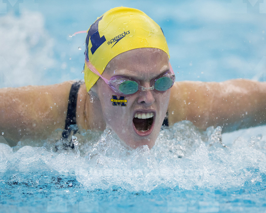 The University of Michigan women's swimming & diving team beat Wisconsin, 157-143, at Canham Natatorium in Ann Arbor Mich., on September 29, 2012.