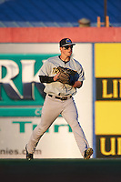 Trenton Thunder outfielder Tyler Austin (35) throws the ball in during a game against the Binghamton Mets on August 8, 2015 at NYSEG Stadium in Binghamton, New York.  Trenton defeated Binghamton 4-2.  (Mike Janes/Four Seam Images)