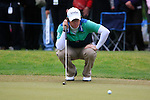 Rory McIlroy (NIR) lines up his putt on the 7th green during Day 3 of the BMW PGA Championship Championship at, Wentworth Club, Surrey, England, 28th May 2011. (Photo Eoin Clarke/Golffile 2011)