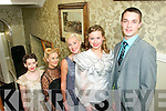 "Models from ""Up Front"" Public Relations, Tralee who took part in the Vintage Fashion Show at the Tea Rooms over Finnegan's restaurant, Denny St, Tralee last Saturday night were l-r: Grace Madden, Dawn O'Sullivan, Ailish O'Connor, Kinga Grunau and Craig Flood."