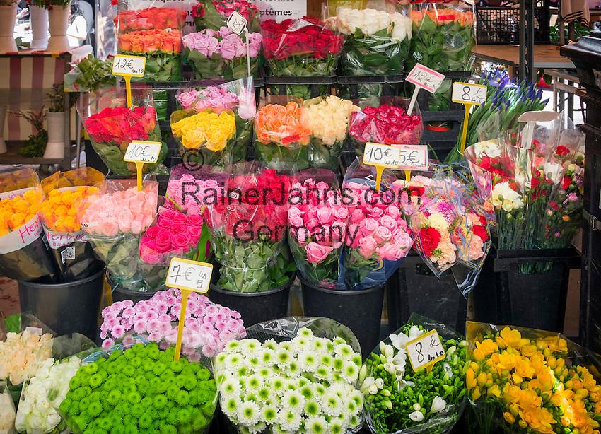 France, Provence-Alpes-Côte d'Azur, Nice: flower shop | Frankreich, Provence-Alpes-Côte d'Azur, Nizza: Blumenladen