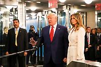 NOVA YORK, EUA, 24.09.2019 - ONU-EUA - Presidente dos Estados Unidos Donald Trump acompanhando de sua esposa Melania Trump durante da 74ª Assembleia Geral da Organização das Nações Unidas (ONU) em Nova York nos Estados Unidos nesta terça-feira, 24. (Foto: Vanessa Carvalho/Brazil Photo Press/Folhapress)