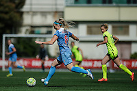 Seattle, WA - Sunday, May 22, 2016: Chicago Red Stars defender Julie Johnston (8) looks to pass the ball during a regular season National Women's Soccer League (NWSL) match at Memorial Stadium. Chicago Red Stars won 2-1.