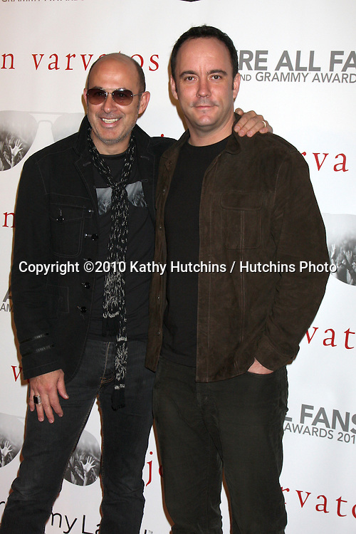 "John Varvatos & Dave Matthews.arriving at the ""We're All Fans"" Event..John Varvatos Store.Los Angeles, CA.January 28, 2010.©2010 Kathy Hutchins / Hutchins Photo...."