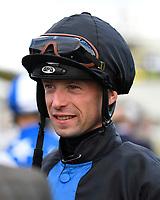Jockey Jack Mitchell during Evening Racing at Salisbury Racecourse on 3rd September 2019