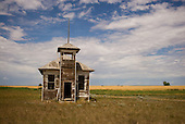 Frezno, Montana<br /> July 20, 2015<br /> <br /> An abandoned school house amongst the vast wheat fields of northern Montana in Hill County.