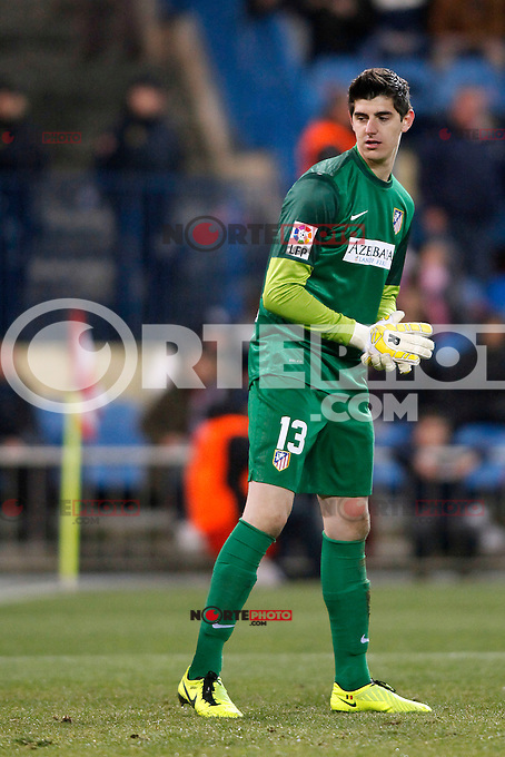 Atletico de Madrid vs Levante during La Liga Match, in the pic: Thibaut Curtois. January 20, 2013. (ALTERPHOTOS/Caro Marin) /NORTEPHOTO