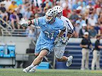 Annapolis, MD - May 20, 2018: Johns Hopkins Blue Jays Hunter Moreland (31) in action during the quarterfinal game between Duke vs John Hopkins at  Navy-Marine Corps Memorial Stadium in Annapolis, MD.   (Photo by Elliott Brown/Media Images International)