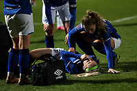 Chloe Kelly of Everton women  /ies injured after a tackle by Ashleigh Neville of Tottenham Hotspur women  during Tottenham Hotspur Women vs Everton Women, Barclays FA Women's Super League Football at the Hive Stadium on 12th February 2020