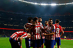 Atletico de Madrid's Alvaro Morata and Atletico de Madrid's Angel Correa during La Liga match. Oct 26, 2019. (ALTERPHOTOS/Manu R.B.)