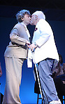 Zoe Caldwell & Aaron Frankel.during the 2001 Theatre World Awards Presentation at the August Wilson Theatre in New York City.