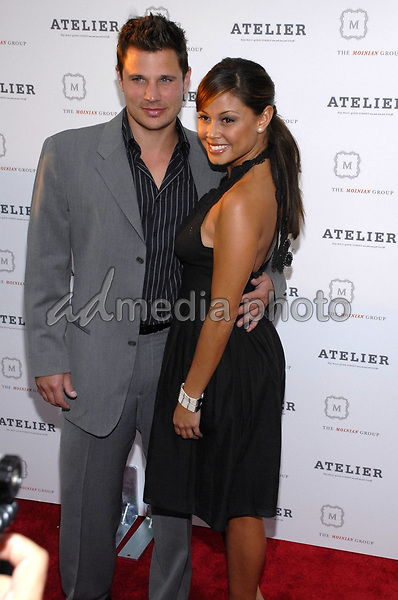 16 July 2007 - New York, New York - Nick Lachey and Vanessa Minnillo. Grand opening of the Atelier, a 46 floor residential condo developement located on West 42nd Street developed by Moinian Group. Photo Credit: Bill Lyons/AdMedia *** Local Caption ***
