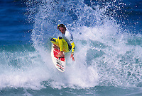 Shaun Brooks (AUS) surfing at his home break of Bells Beach during a Billabong Pro Jr. circa 1992.Photo:joliphotos.com