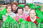 Ella Crane, Sheila Doona, Ann Marie McGillicuddy, Chloe O'Sullivan and Mary Anne Doherty who helped out at the Kilgobnet NS community clean up on Saturday.   Copyright Kerry's Eye 2008